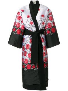пальто с цветочной вышивкой Stefano Mortari