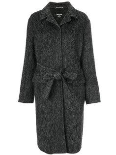 длинное пальто с поясом  Rochas