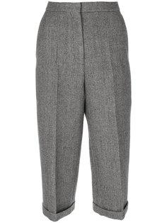 укороченные брюки со складками  Rochas