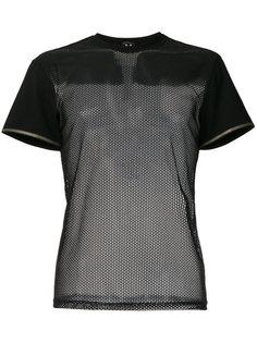 футболка с сетчатой отделкой Versace