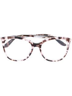 крупные очки с эффектом черепахового панциря Dolce & Gabbana Eyewear