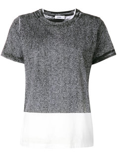 футболка с контрастной отделкой  Jil Sander