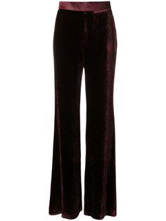 широкие брюки с бархатным эффектом Mantu