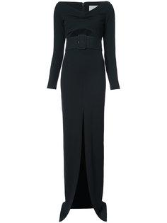 вечернее платье с вырезными деталями Solace London
