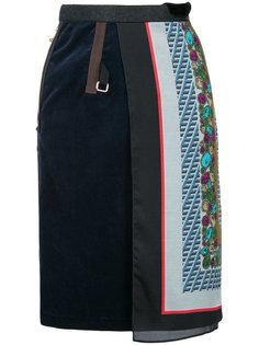 юбка со вставкой в форме шарфа Kolor