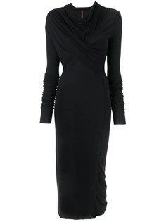 платье миди с драпировкой  Rick Owens Lilies