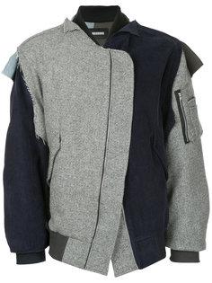асимметричная куртка-бомбер Moohong