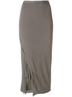 приталенная юбка с запахом Rick Owens Lilies