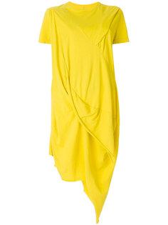 асимметричное платье футболочного кроя  Rick Owens DRKSHDW