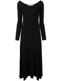 длинное платье с вырезом-ковш Rosetta Getty