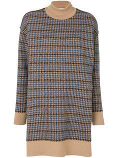 платье-миди с узором в клетку Stella McCartney