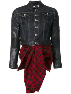 куртка комбинированного кроя Dsquared2