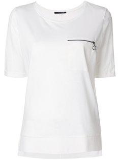 футболка с карманом на молнии Luisa Cerano