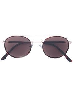 круглые солнцезащитные очки с затемненными линзами Giorgio Armani