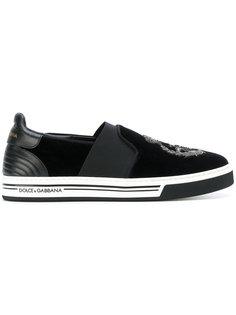 кроссовки с вышивкой Dolce & Gabbana