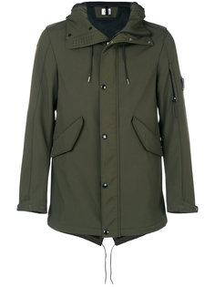 куртка с капюшоном  и прозрачной вставкой CP Company