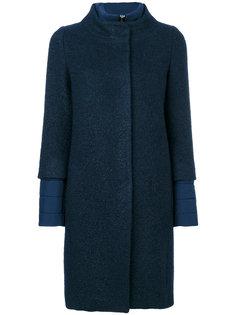 пальто с дутыми вставками Herno