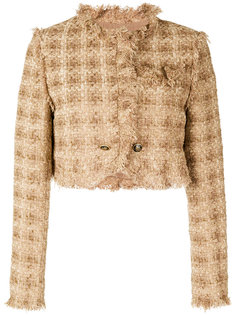 укороченная куртка с необработанным краем  MSGM
