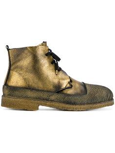 ботинки на шнуровке с металлическим отблеском Rocco P.