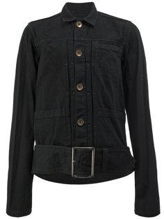 куртка рубашечного кроя с поясом Maison Mihara Yasuhiro