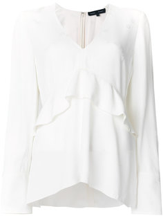 блузка с длинными рукавами и V-образным вырезом Proenza Schouler