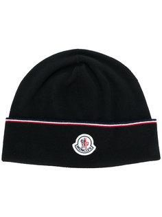 трикотажная шапка с логотипом Moncler
