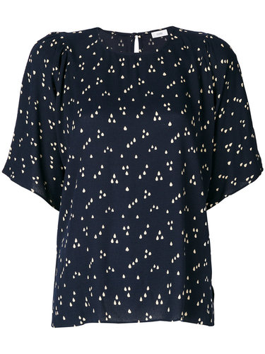 блузка с короткими рукавами и принтом  Closed