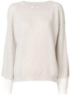 свитер с контрастным подолом с ребристой фактурой Dorothee Schumacher