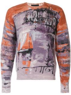 свитер с принтом Fishing Village Prada