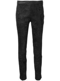 облегающие брюки из материала с блеском Nude