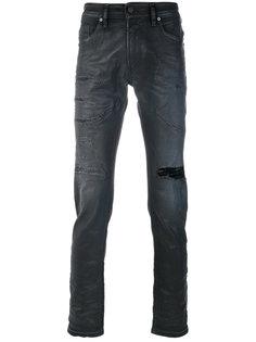 джинсы кроя слим с потертой отделкой Diesel