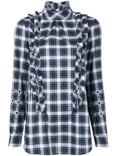 клетчатая рубашка с оторочкой из рюшей Nº21