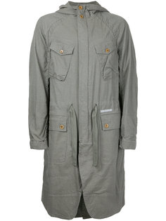 пальто с капюшоном и накладными карманами Undercover