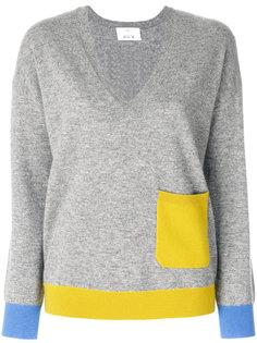 свитер с контрастным карманом Allude