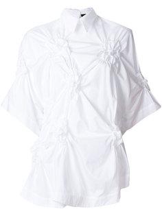 рубашка с жатой отделкой  Simone Rocha