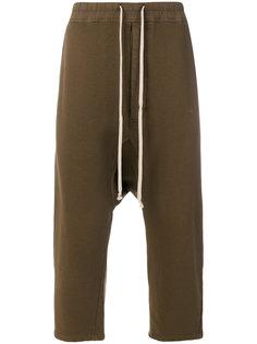 укороченные брюки с эластичным поясом Rick Owens DRKSHDW