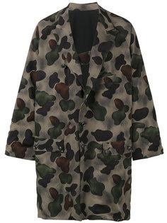 пальто-кимоно с камуфляжным узором Yohji Yamamoto