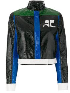 куртка с контрастными полосками  Courrèges