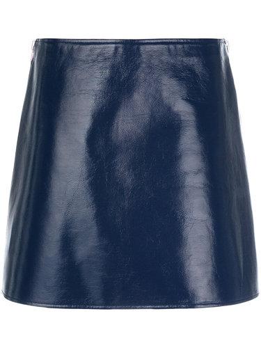 юбка мини с эффектом кожи  Courrèges