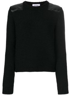 свитер с нашивкой на плече  Courrèges