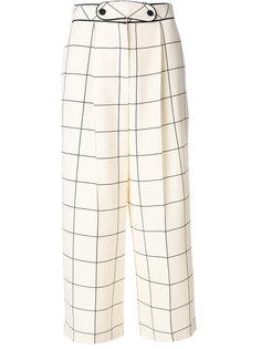 широкие брюки с узором в клетку Valentino