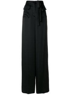 брюки-палаццо с завязкой на талии Valentino