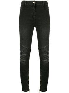 узкие джинсы с панельными вставками Balmain