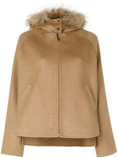 куртка с капюшоном с меховой отделкой P.A.R.O.S.H.