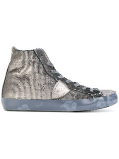 расшитые пайетками кроссовки Philippe Model