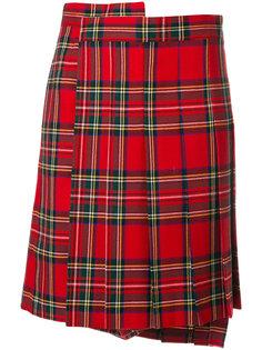плиссированная юбка-шорты с принтом тартан  Junya Watanabe Comme Des Garçons