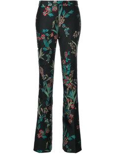 брюки с цветочным узором  Giambattista Valli