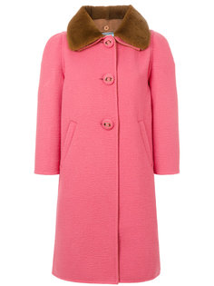 приталенное пальто на пуговицах  Prada