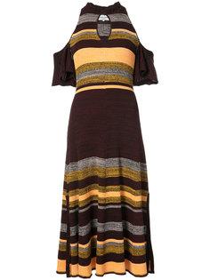 платье в полоску с открытыми плечами Apiece Apart
