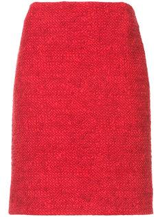 твидовая юбка букле Akris Punto